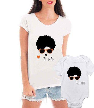 Camiseta Blusa T-shirt e Body Tal Mãe Tal Filho Black - Personalizadas/ Customizadas/ Estampadas/ Camiseteria/ Estamparia/ Estampar/ Personalizar/ Customizar/ Criar/ Camisa Blusas Baratas Modelos Legais Loja Online