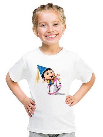 Camiseta Infantil Menina Agnes Meu Malvado Favorito Filme Unicórnio - Personalizadas/ Customizadas/ Estampadas/ Camiseteria/ Estamparia/ Estampar/ Personalizar/ Customizar/ Criar/ Camisa Blusas Baratas Modelos Legais Loja Online