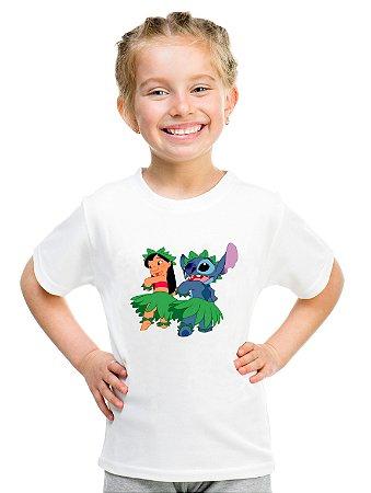 Camiseta Infantil Menina Lilo e Stitch Filme - Personalizadas/ Customizadas/ Estampadas/ Camiseteria/ Estamparia/ Estampar/ Personalizar/ Customizar/ Criar/ Camisa Blusas Baratas Modelos Legais Loja Online