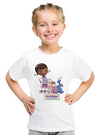 Camiseta Infantil Menina Doutora Brinquedos Desenho - Personalizadas/ Customizadas/ Estampadas/ Camiseteria/ Estamparia/ Estampar/ Personalizar/ Customizar/ Criar/ Camisa Blusas Baratas Modelos Legais Loja Online