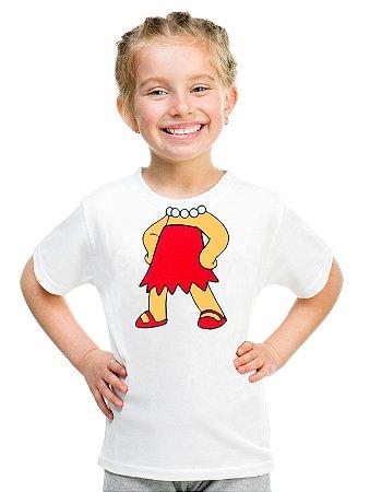 Camiseta Infantil Menina Lisa Simpsons - Personalizadas/ Customizadas/ Estampadas/ Camiseteria/ Estamparia/ Estampar/ Personalizar/ Customizar/ Criar/ Camisa Blusas Baratas Modelos Legais Loja Online