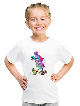 Camiseta Infantil Menina Mickey Colorido Desenho - Personalizadas/ Customizadas/ Estampadas/ Camiseteria/ Estamparia/ Estampar/ Personalizar/ Customizar/ Criar/ Camisa Blusas Baratas Modelos Legais Loja Online