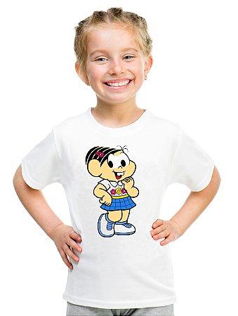 Camiseta Infantil Menina Monica Desenho - Personalizadas/ Customizadas/ Estampadas/ Camiseteria/ Estamparia/ Estampar/ Personalizar/ Customizar/ Criar/ Camisa Blusas Baratas Modelos Legais Loja Online