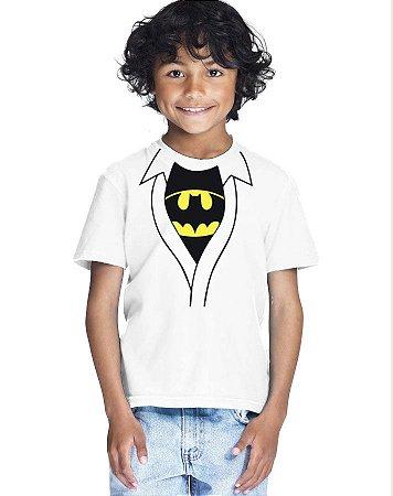Camiseta Infantil Menino Batman Morcego - Personalizadas/ Customizadas/ Estampadas/ Camiseteria/ Estamparia/ Estampar/ Personalizar/ Customizar/ Criar/ Camisa Blusas Baratas Modelos Legais Loja Online