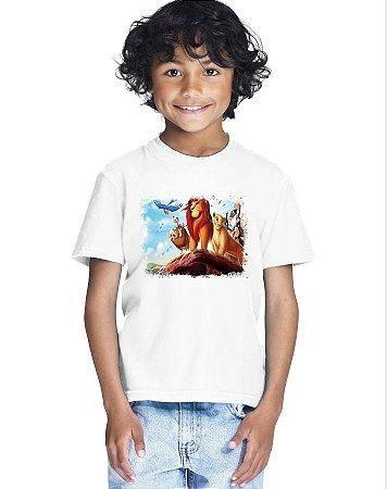 Camiseta Infantil Menino O Rei Leão Desenho - Personalizadas/ Customizadas/ Estampadas/ Camiseteria/ Estamparia/ Estampar/ Personalizar/ Customizar/ Criar/ Camisa Blusas Baratas Modelos Legais Loja Online