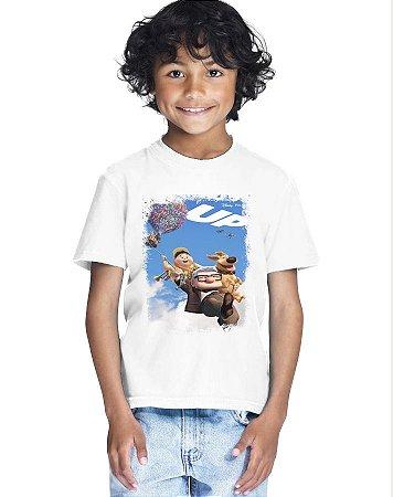 Camiseta Infantil Menino Up Desenho - Personalizadas/ Customizadas/ Estampadas/ Camiseteria/ Estamparia/ Estampar/ Personalizar/ Customizar/ Criar/ Camisa Blusas Baratas Modelos Legais Loja Online