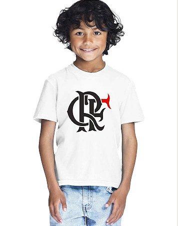 Camiseta Infantil Menino Flamengo Time - Personalizadas/ Customizadas/ Estampadas/ Camiseteria/ Estamparia/ Estampar/ Personalizar/ Customizar/ Criar/ Camisa Blusas Baratas Modelos Legais Loja Online