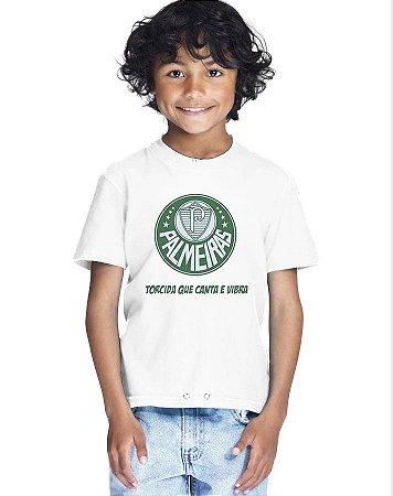 Camiseta Infantil Menino Palmeiras Time - Personalizadas/ Customizadas/ Estampadas/ Camiseteria/ Estamparia/ Estampar/ Personalizar/ Customizar/ Criar/ Camisa Blusas Baratas Modelos Legais Loja Online