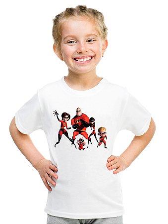 Camiseta Infantil Menina Filme Os Incríveis - Personalizadas/ Customizadas/ Estampadas/ Camiseteria/ Estamparia/ Estampar/ Personalizar/ Customizar/ Criar/ Camisa Blusas Baratas Modelos Legais Loja Online