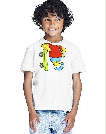 Camiseta Infantil Menino Bart Corpo - Personalizadas/ Customizadas/ Estampadas/ Camiseteria/ Estamparia/ Estampar/ Personalizar/ Customizar/ Criar/ Camisa Blusas Baratas Modelos Legais Loja Online