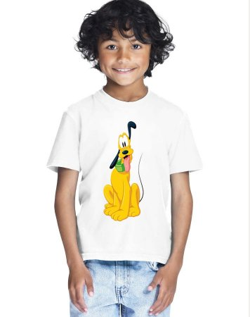 Camiseta Infantil Menino Pluto Desenho - Personalizadas/ Customizadas/ Estampadas/ Camiseteria/ Estamparia/ Estampar/ Personalizar/ Customizar/ Criar/ Camisa Blusas Baratas Modelos Legais Loja Online