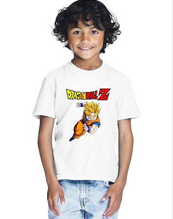 Camiseta Infantil Menino Goku Dragon Ball Z - Personalizadas/ Customizadas/ Estampadas/ Camiseteria/ Estamparia/ Estampar/ Personalizar/ Customizar/ Criar/ Camisa Blusas Baratas Modelos Legais Loja Online