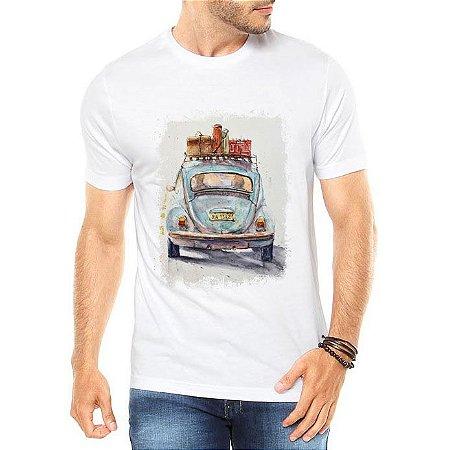 Camiseta Masculina Fusca Carro Antigo Colorido - Personalizadas/ Customizadas/ Estampadas/ Camiseteria/ Estamparia/ Estampar/ Personalizar/ Customizar/ Criar/ Camisa Blusas Baratas Modelos Legais Loja Online
