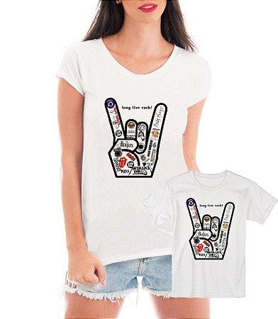 Camisetas Tal Mãe Tal Filha filho Rock Bandas - Personalizadas/ Customizadas/ Estampadas/ Camiseteria/ Estamparia/ Estampar/ Personalizar/ Customizar/ Criar/ Camisa Blusas Baratas Modelos Legais Loja Online