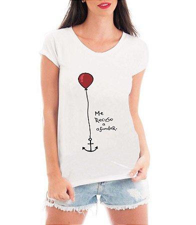 Blusa T-shirt Âncora Me Recuso a Afundar - Personalizadas/ Customizadas/ Estampadas/ Camiseteria/ Estamparia/ Estampar/ Personalizar/ Customizar/ Criar/ Camisa Blusas Baratas Modelos Legais Loja Online