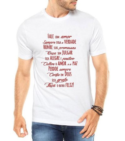 Camiseta Masculina Ano Novo 2018 Réveillon Honre Suas Promessas Branca - Personalizadas/ Customizadas/ Estampadas/ Camiseteria/ Estamparia/ Estampar/ Personalizar/ Customizar/ Criar/ Camisa Blusas Baratas Modelos Legais Loja Online