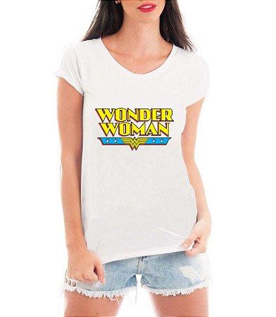 Blusa TShirt  Feminina Mulher Maravilha Heroína   - Personalizadas/ Customizadas/ Estampadas/ Camiseteria/ Estamparia/ Estampar/ Personalizar/ Customizar/ Criar/ Camisa Blusas Baratas Modelos Legais Loja Online