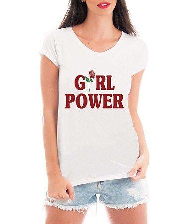 Blusa TShirt Feminina Girl Power - Personalizadas/ Customizadas/ Estampadas/ Camiseteria/ Estamparia/ Estampar/ Personalizar/ Customizar/ Criar/ Camisa Blusas Baratas Modelos Legais Loja Online