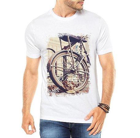 Camiseta Masculina Bicicleta Antiga Classic Style  - Personalizadas/ Customizadas/ Estampadas/ Camiseteria/ Estamparia/ Estampar/ Personalizar/ Customizar/ Criar/ Camisa Blusas Baratas Modelos Legais Loja Online