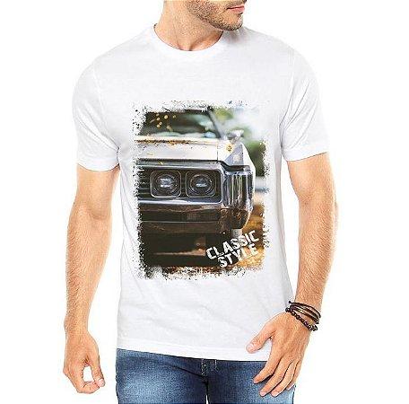 Camiseta Masculina Carros Antigos Classic Style Estilo - Personalizadas/ Customizadas/ Estampadas/ Camiseteria/ Estamparia/ Estampar/ Personalizar/ Customizar/ Criar/ Camisa Blusas Baratas Modelos Legais Loja Online