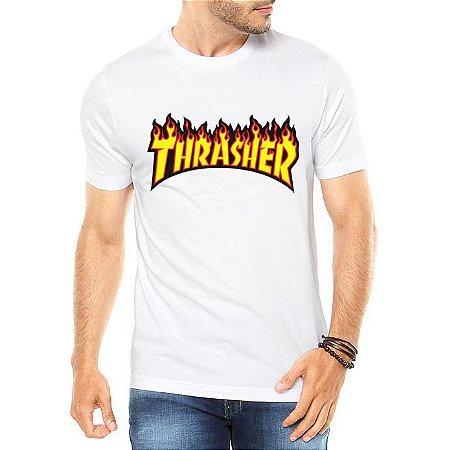 Camiseta Masculina Thrasher  Marca Revista - Personalizadas/ Customizadas/ Estampadas/ Camiseteria/ Estamparia/ Estampar/ Personalizar/ Customizar/ Criar/ Camisa Blusas Baratas Modelos Legais Loja Online