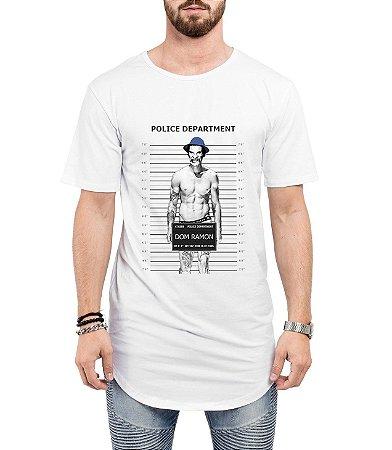 Camiseta Long Line Oversized Masculina Seu Madruga Mau Cadeia Camisetas Barra Curvada - Camisetas Personalizadas/ Customizadas/ Estampadas/ Camiseteria/ Estamparia/ Estampar/ Personalizar/ Customizar/ Criar/ Camisa Barata  Loja Online
