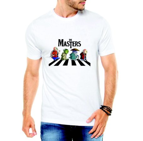 Camiseta Branca Masculina Mestre Kame Yoda Mestre Ancião Dohko Mestre dos Magos - Personalizadas/ Customizadas/ Estampadas/ Camiseteria/ Estamparia/ Estampar/ Personalizar/ Customizar/ Criar/ Camisa Blusas Baratas Modelos Legais Loja Online