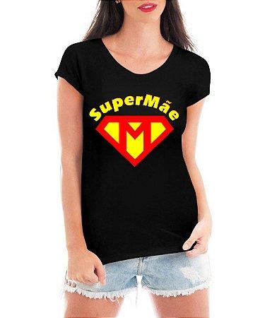 Camiseta Feminina Tshirt  Super Mãe Dia Das Mães Maravilha Heroína - Personalizada/ Estampadas/ Camiseteria/ Estamparia/ Estampar/ Personalizar/ Customizar/ Criar/ Camisa T-shirts Blusas Baratas Modelos Legais Loja Online