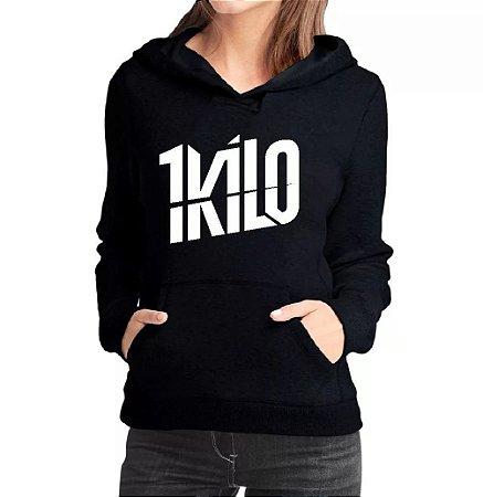 Casaco 1 Kilo Moletom Feminino - Moletons Personalizados Banda Musica Hip Hop Rapper  Blusa Casacos Baratos Blusão Blusa de Frio