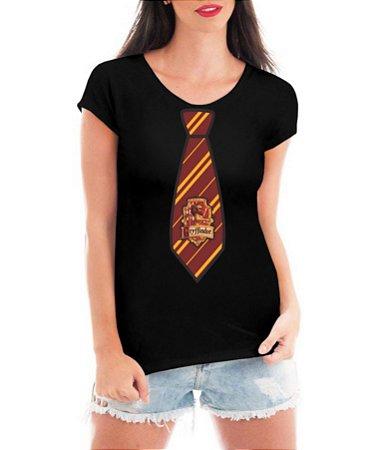Blusa Feminina Harry Potter Uniforme Grifinória Tshirt Camiseta - Personalizadas/ Customizadas/ Estampadas/ Camiseteria/ Estamparia/ Estampar/ Personalizar/ Customizar/ Criar/ Camisa Blusas Baratas Modelos Legais Loja Online