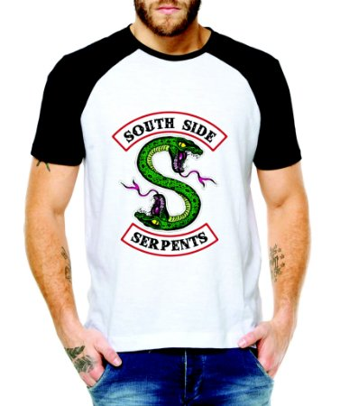 Camiseta Raglan Riverdale Serpents Masculina - Roupa dos Serpentes do Sul