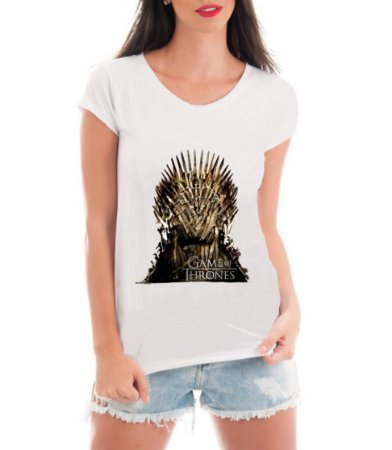 Camiseta Feminina Game Of Thrones Blusa Trono De Ferro Serie