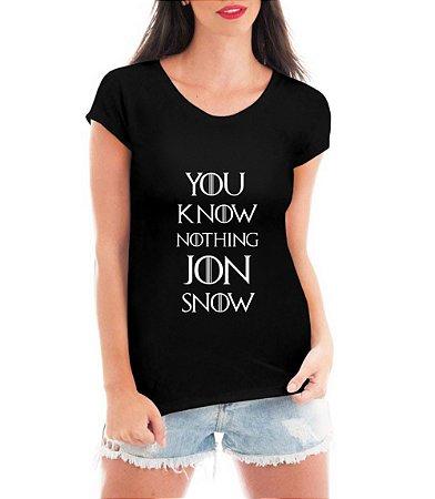Camiseta Jon Snow Blusa Game Of Thrones Série Seriado