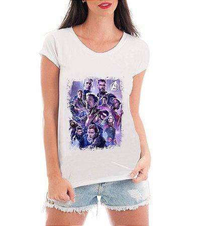 Camiseta Feminina Vingadores Ultimato Avengers Blusa Heróis