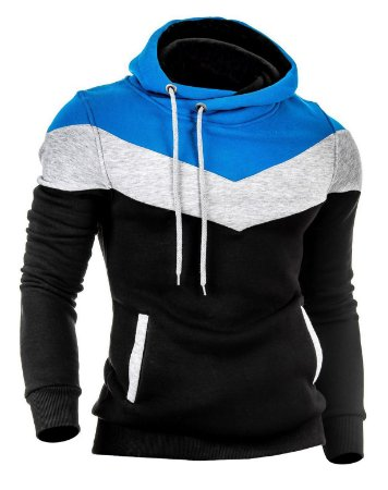 Moletom Masculino Slim 3 Cores Casaco Blusa de Frio Com Capuz