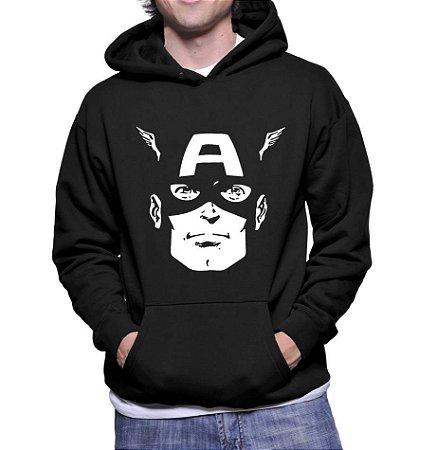Moletom Capitão América Marvel Super Herói Vingadores Ultimato Avengers Masculino