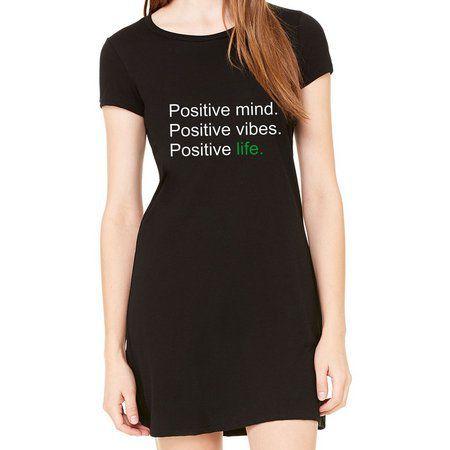 Vestido Curto Positive Life Moda Feminino