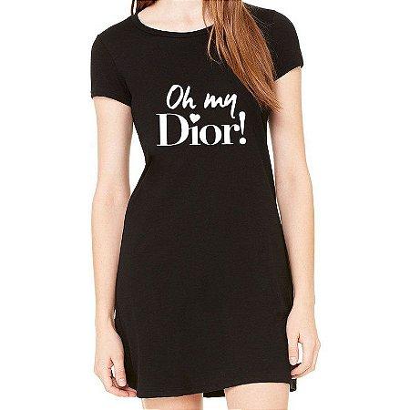 Vestido Curto Oh My Dior Moda Feminino