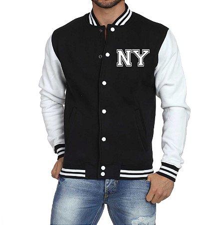 Jaqueta College Masculina New York Casaco Masculino Blusa de Frio Nova York