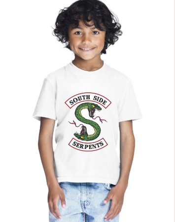Camiseta Infantil Riverdale Serpentes do Sul Série Menino