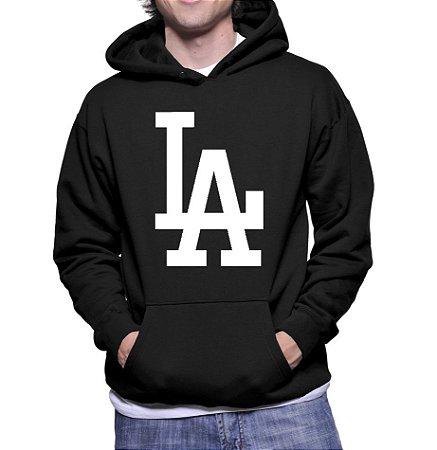 Moletom Masculino Los Angeles Dodgers NFL - Moletons Personalizados Blusa/ Casacos Baratos/ Blusão/ Jaqueta Canguru