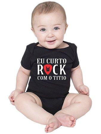 Body Bebê Curto Rock com Titio Preto