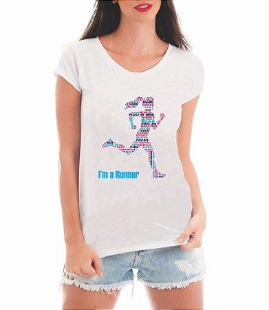 Blusa Feminina  Corredora Maratona Runner