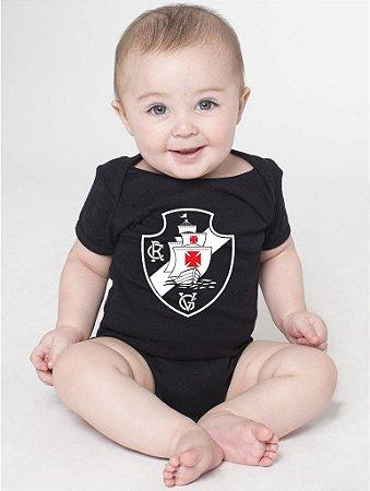 Body Bebê Vasco Times de Futebol - Roupinhas Macacão Infantil Bodies Roupa Manga Curta Menino Menina Personalizados