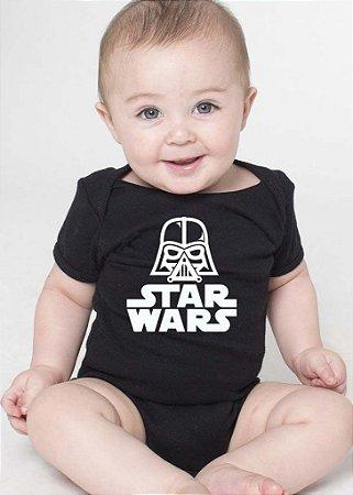 Body Bebe Nerd Star Wars Darth Vader Geek Filmes Serie - Roupinhas Macacão Infantil Bodies Roupa Manga Curta Menino Menina Personalizados