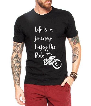Camiseta Masculina Motocicleta