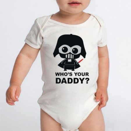 Body Bebê Star Wars Darth Vader  - Roupinhas Macacão Infantil Bodies Roupa Manga Curta Menino Menina Personalizados