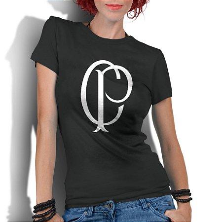 9e56f9b2dc Camiseta Feminina Corinthians Time De Futebol Escudo - Personalizadas   Customizadas  Estampadas  Camiseteria