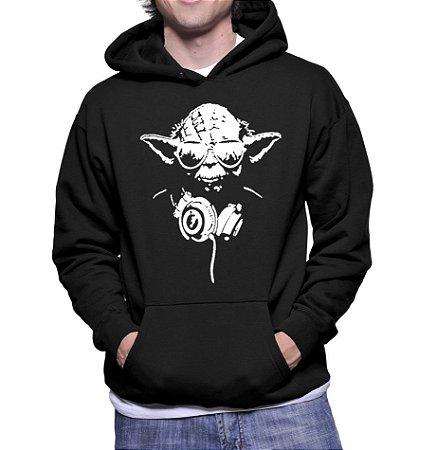 Moletom Masculino Mestre Yoda Star Wars - Moletons Personalizados Blusa/ Casacos Baratos/ Blusão/ Jaqueta Canguru