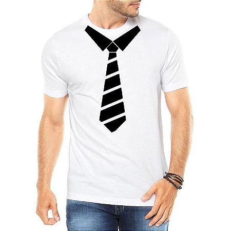 Camiseta Masculina Divertida Gravata Social - Personalizadas/ Customizadas/ Estampadas/ Camiseteria/ Estamparia/ Estampar/ Personalizar/ Customizar/ Criar/ Camisa Blusas Baratas Modelos Legais Loja Online